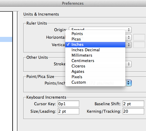 indesign how to change page settings