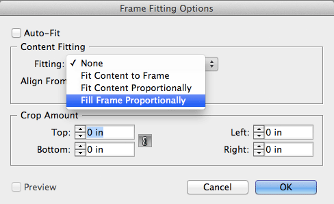 InDesign Fill Frame Proportionally