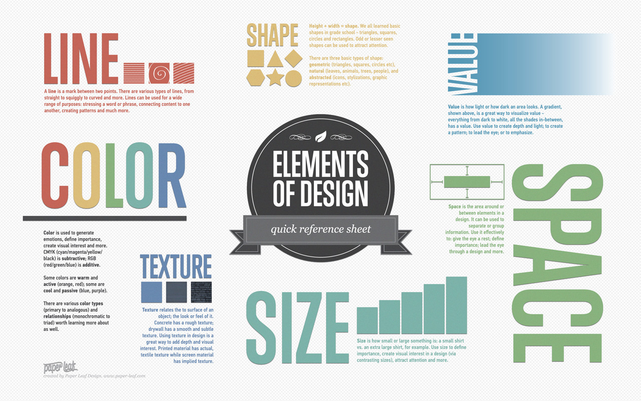 infographics: design elements, principals, and color theory