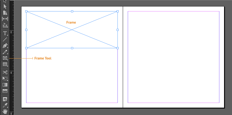 indesign frame and frame tool