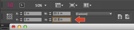 InDesign pages control panel