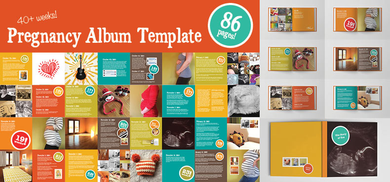 Pregnancy Album Template – Template for Photo Album